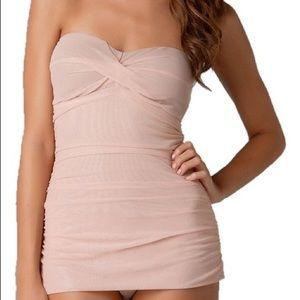 Ballet Pink Blush Pinup Tulle Swim bathing Suit
